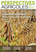 Couv perspectives agricxoles n° 413, juillet-août 2014